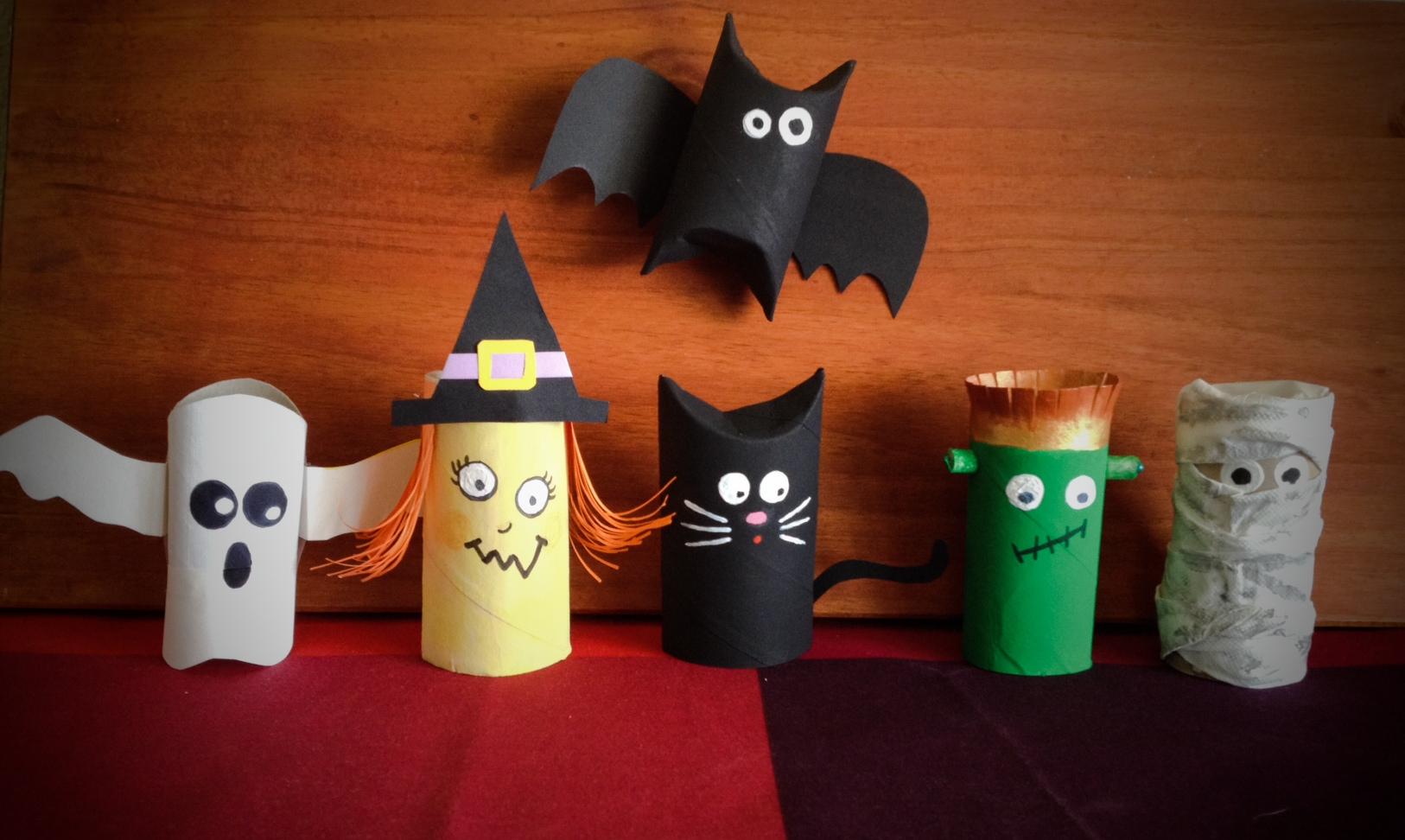 Estos monstruos son un rollo de papel happy green life - Como decorar un rollo de papel higienico ...